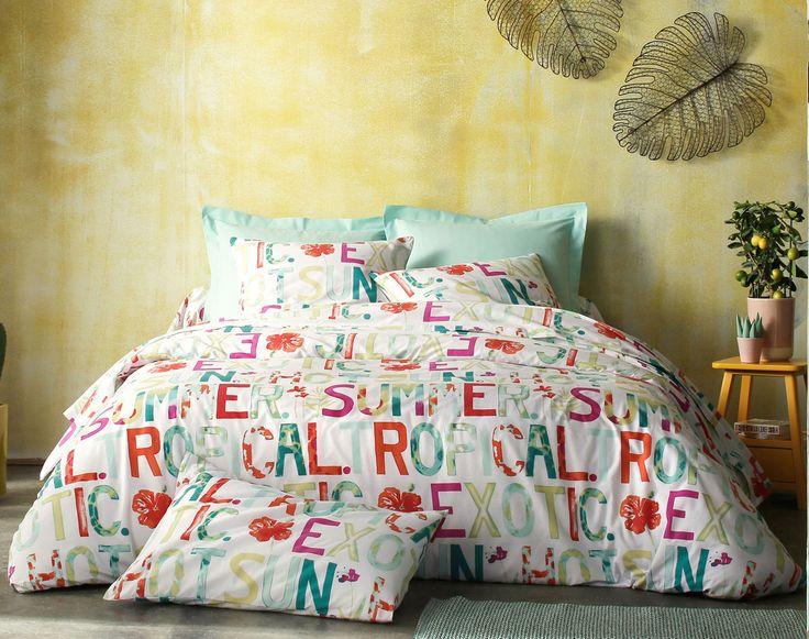 les 14 meilleures images du tableau housses de couette tropicales sur pinterest linge de lit. Black Bedroom Furniture Sets. Home Design Ideas