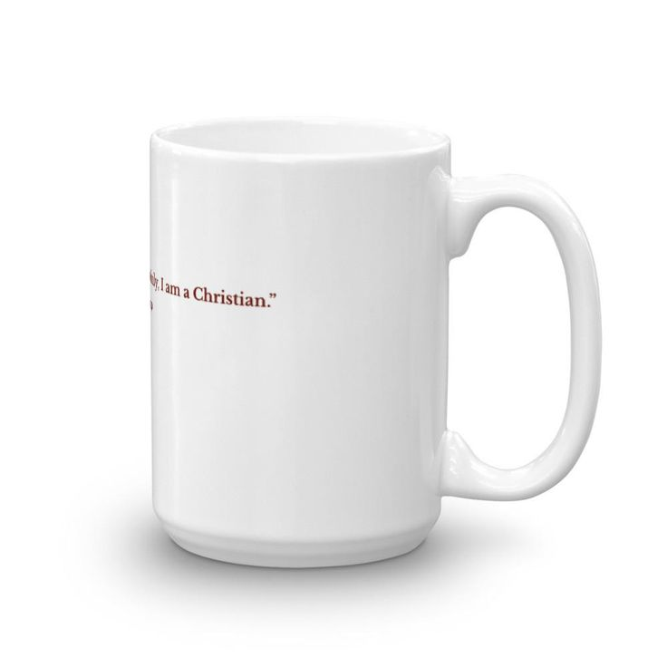 Mug with St. Polycarp's image and quote (blood red image)