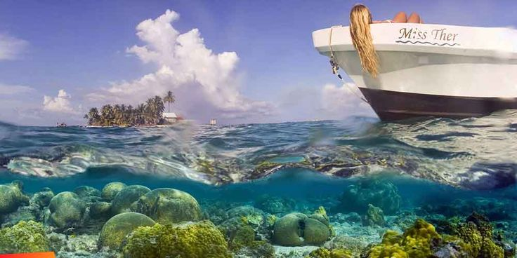 Another of Earth's beautiful spots. It would amazing to see in person. The Belize Barrier Reef on Ambergris Caye,