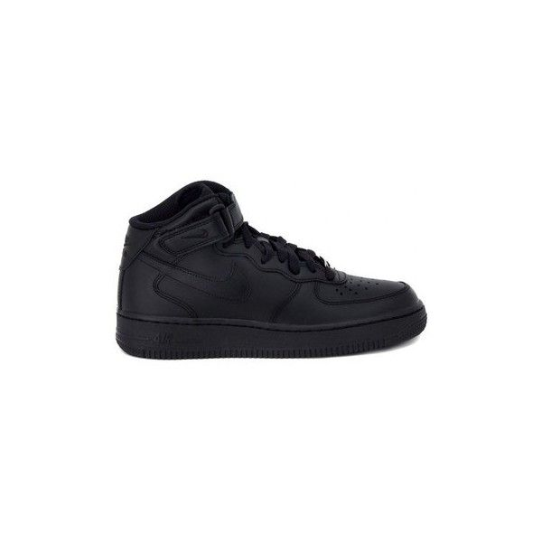 Nike AIR FORCE 1 MID   BLACK Shoes (High-top Trainers) (165 CAD) ❤ liked on Polyvore featuring shoes, sneakers, high top trainers, multicolour, women, black high tops, colorful sneakers, multicolor sneakers, high top shoes and black high top shoes