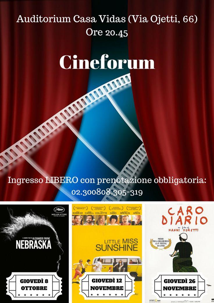 #cineforum in Casa Vidas, si parte giovedì 8 ottobre con #Nebraska, seguono #LittleMissSunshine giovedì 12 novembre e #CaroDiario giovedì 26 novembre. Ingresso libero con prenotazione obbligatoria