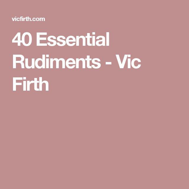 40 Essential Rudiments - Vic Firth