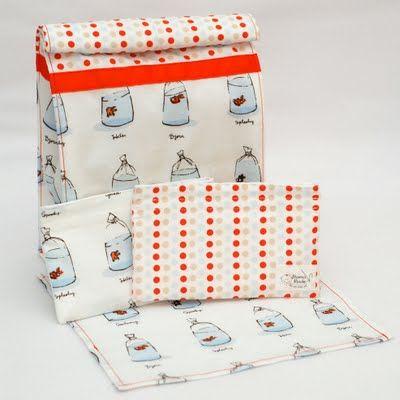 EcoNest - Eco Friendly Nesties Equipe Etsy: Tirando toalhas de papel reutilizáveis e conjuntos de lancheira!