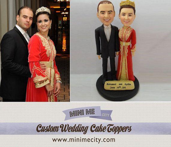 Custom Cake Topper Wedding Bobblehead wedding cake by MiniMeCity