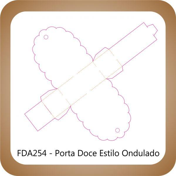 Faca Corte e Vinco FDA254 - Porta Doces com Abas Onduladas