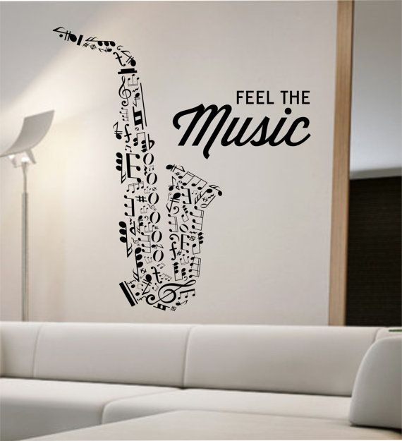 Saxophone Wall Decal Vinyl Sticker Art Decor Bedroom Design Mural school education educational sounds artist musician home decor wall decor