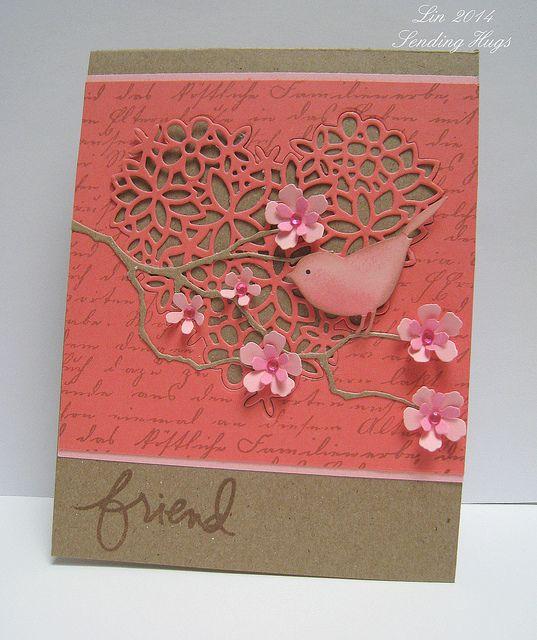 A card for Jacqueline - Sending Hugs