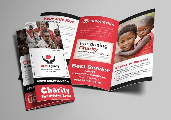 Charity Trifold Brochure by AfzaalGraphics on @creativemarket