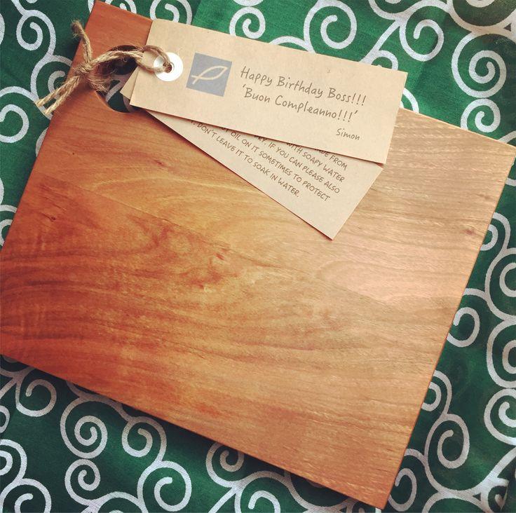 Cherrywood chopping board, walnut oil finish.
