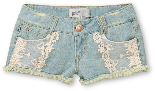 JOLT  Jolt Sam Lace Pocket Cut-Off Denim Shorts  $29.95. love these and jolt denim! just ordered them yesterday.