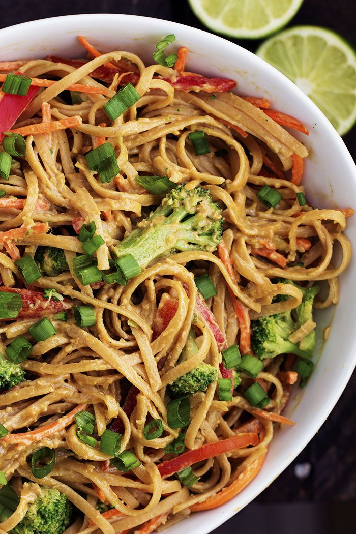 Ginger, Lime, garlic and peanut butter create a luscious Thai sauce for these whole wheat noodles! A delicious and flavorful meal that is under 400 calories! There is one thing that I can't live without while I am watching what I eat. Carbs. Oh man. I love my carbs. That is why my number one …
