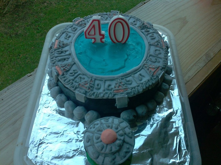 Stargate Cake I made for DH's 40th :)
