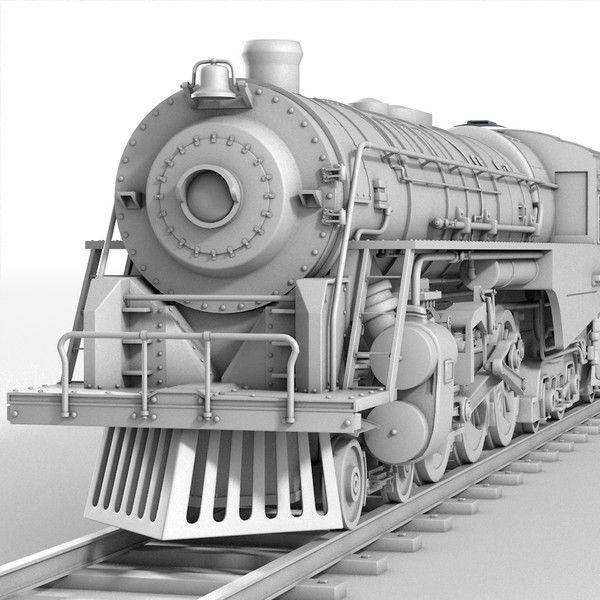 CGI - $79 - 3ds realistic berkshire steam locomotive - Berkshire Steam Engine... by Marketing Arts Group