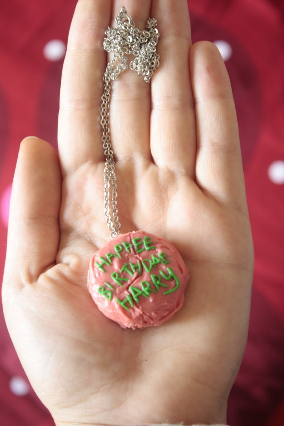 'Happee Birthdae Harry - Hagrid's cake Necklace' by theicecreamvan