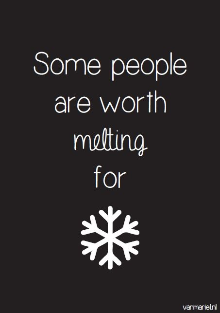 Some people are worth melting for - #Frozen - #Disney - Buy it at www.vanmariel.nl - Card € 1,25 Poster € 3,95