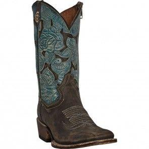 DP3910 Dan Post Women's Garden Party Western Boots - Turquoise www.bootbay.com