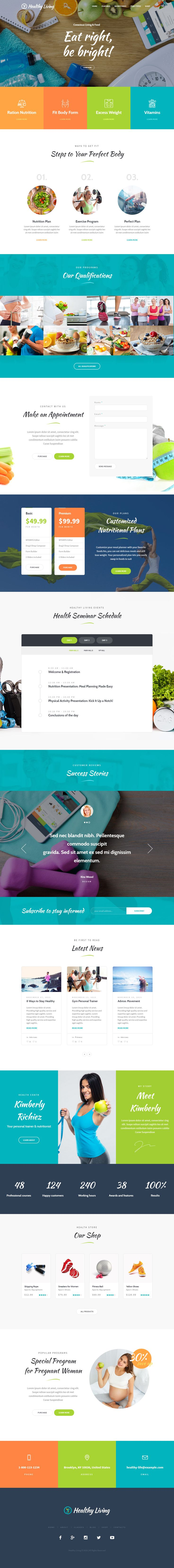 Healthy Living is Premium Responsive Retina Parallax #WordPress Theme. If you like this #Nutrition Theme visit our handpicked list of best #Food Themes at: http://www.responsivemiracle.com/best-food-wordpress-themes/