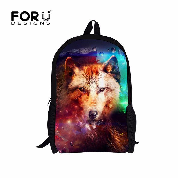 3D Wolf Child Pack Spain Design Dog Tiger Backpacks For Boys Zoo Animal Children Cartoon Bag Pack Mochila School Kids Rucksack