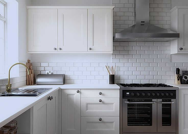 Faringdon Beaded ultra smooth painted shaker style kitchen in Porcelain – First Impressions