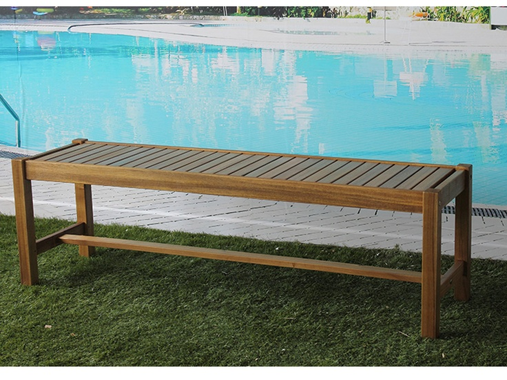 Sabadell 3 Seater Outdoor Timber Bench - 150cm 2