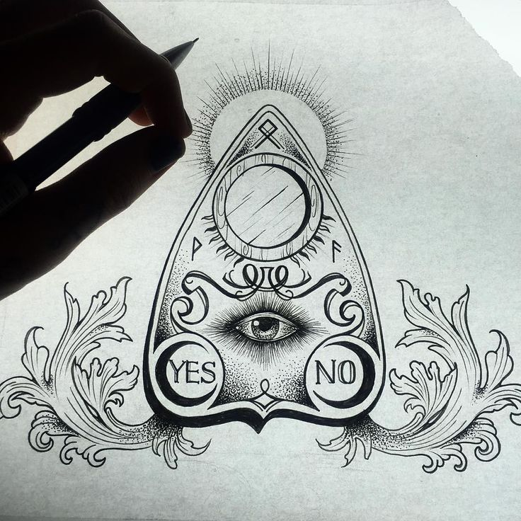 ouija planchette tattoo the image kid has it. Black Bedroom Furniture Sets. Home Design Ideas