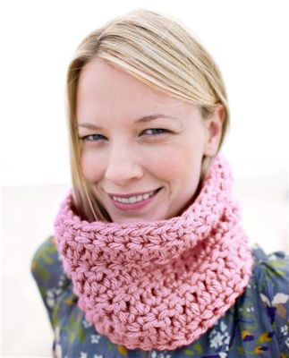 Openwork Crocheted Cowl