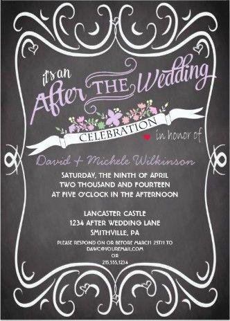 After Destination Wedding Reception Invitation Wording