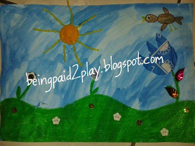 Being Paid 2 Play: Multi-Medium Garden Scene