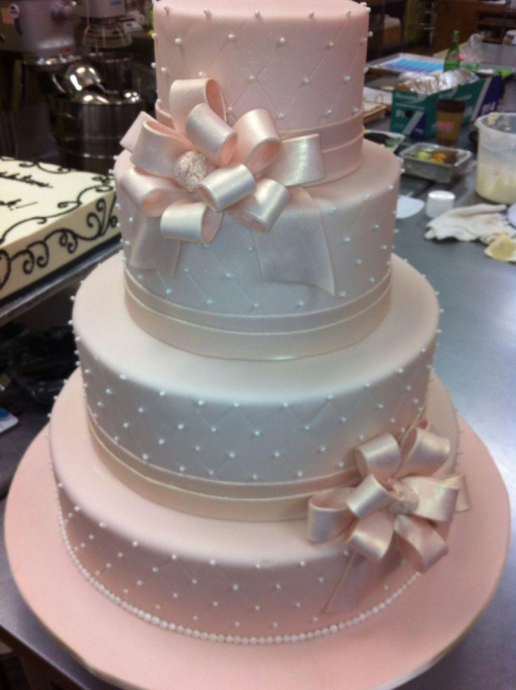 Pink satin wedding cake                                                                                                                                                                                 More