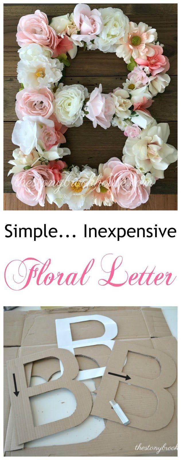 Lettre florale peu coûteuse simple – Baby's wedding: shower