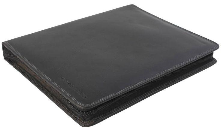 Jekyll and Hide Texas Leather iPad 2 Holder - Black | Black Tablet Case | KJ Beckett