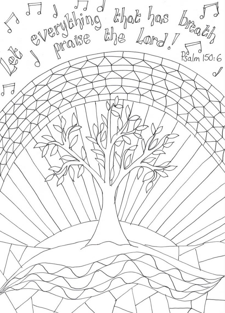 Let Everything Jpeg 821 1144 Christian Coloring Psalm 150 Bible Coloring Pages