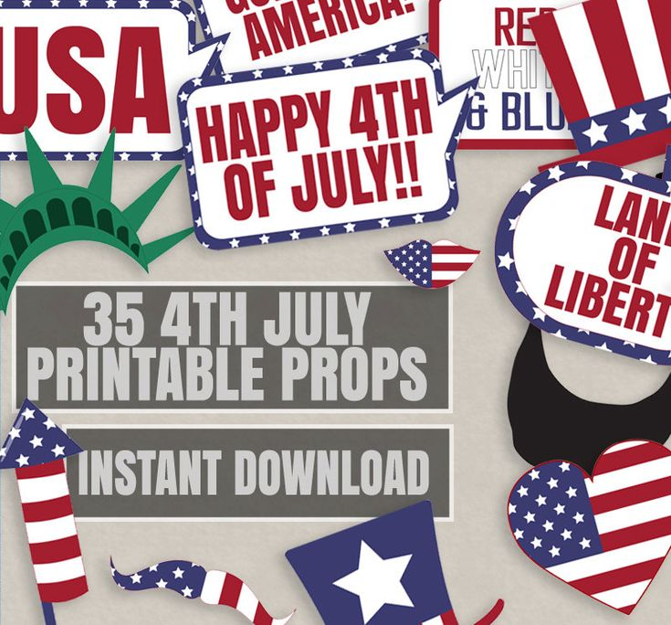 Best 25 america independence day ideas on pinterest 35 4th of july props printable photo booth props american party america independence day props fourth of july party props 4 july party spiritdancerdesigns Gallery