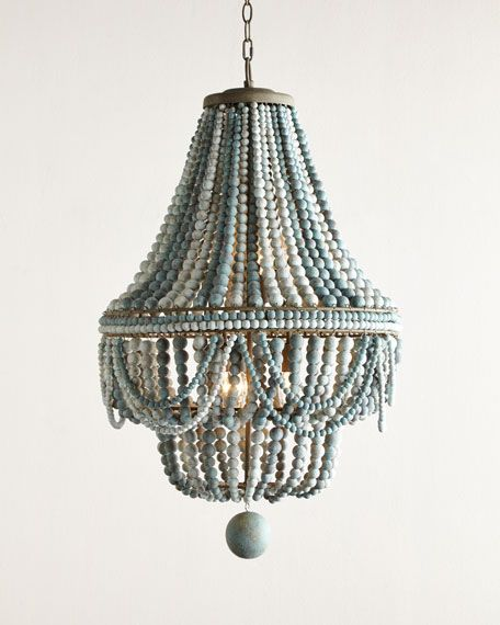 Superb Malibu Beaded 6 Light Chandelier