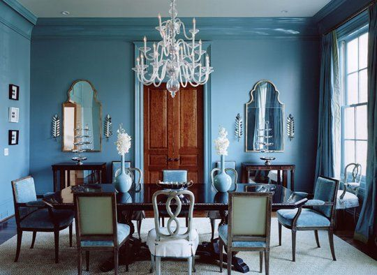 The Power Of One 10 Beautiful Monochromatic Rooms Turquoise Dining RoomBlue