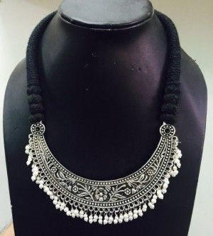 Beautiful oxidised german silver neckpiece