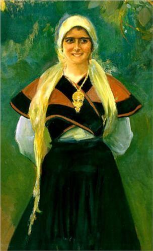 Asturian girl - Joaquín Sorolla