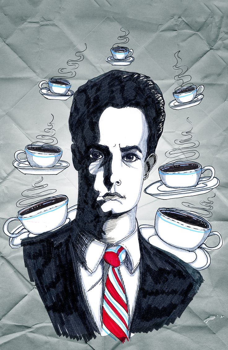 Dale Cooper. Twin Peaks. Coffee. Everything you need. © Cecilia Broberg 2013