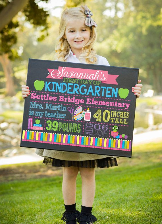 First Day Of School Sign First Day Of by GracenLDesigns on Etsy