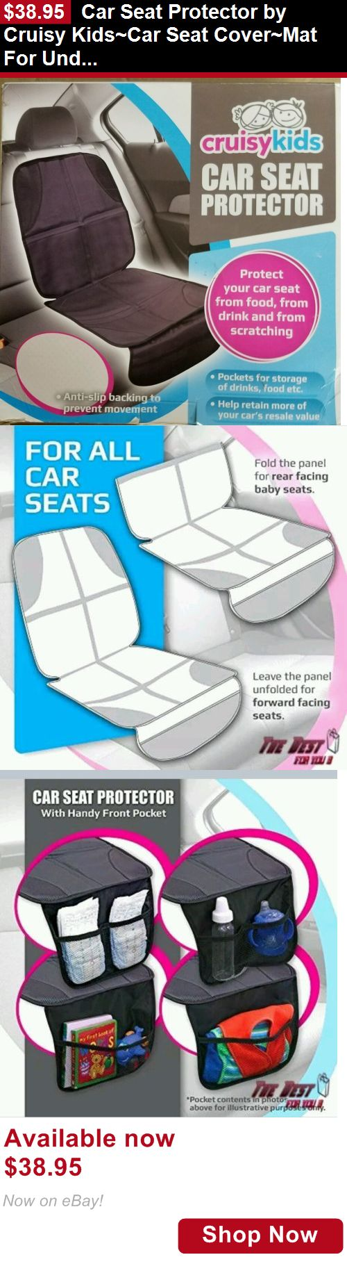 Car Seat Accessories: Car Seat Protector By Cruisy Kids~Car Seat Cover~Mat For Under Car Seats BUY IT NOW ONLY: $38.95