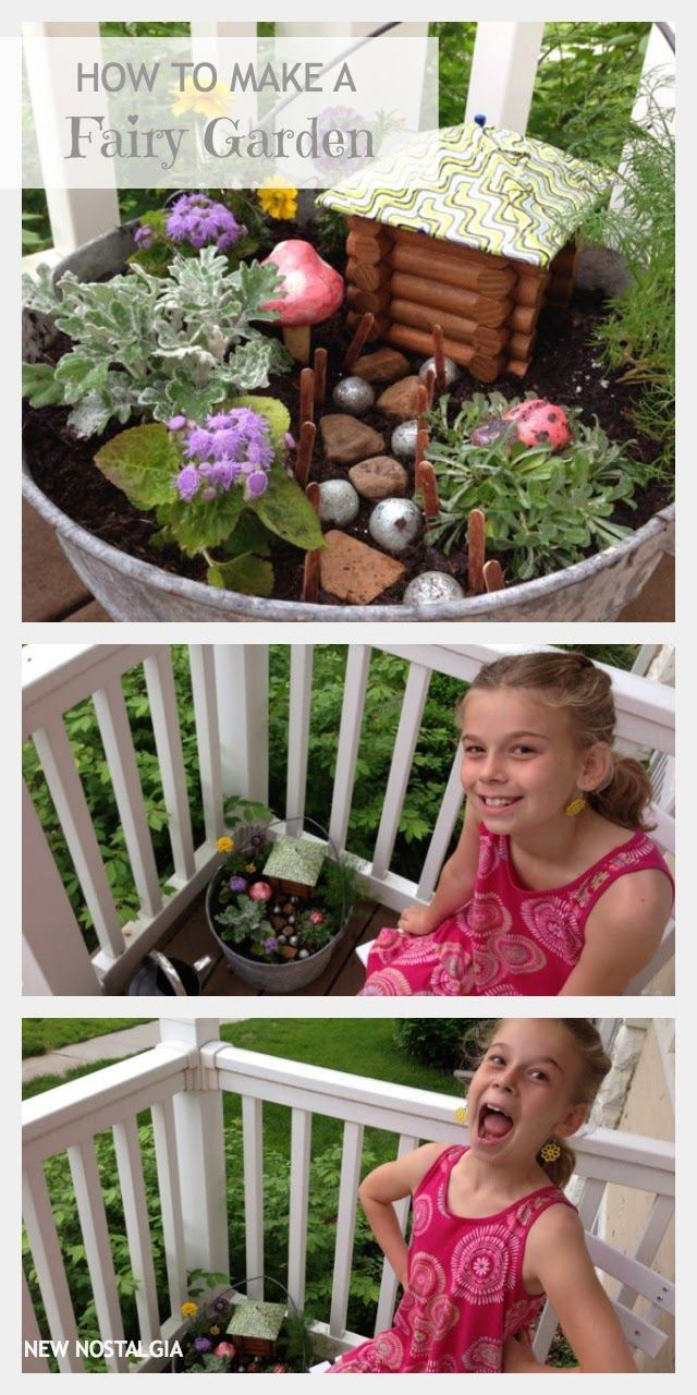 How To Make A Fairy Garden - let the kids get creative, let go of perfect, and watch the cuteness happen. via New Nostalgia