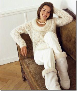 Белый и пушистый пуловер. Обсуждение на LiveInternet - Российский Сервис Онлайн-Дневников