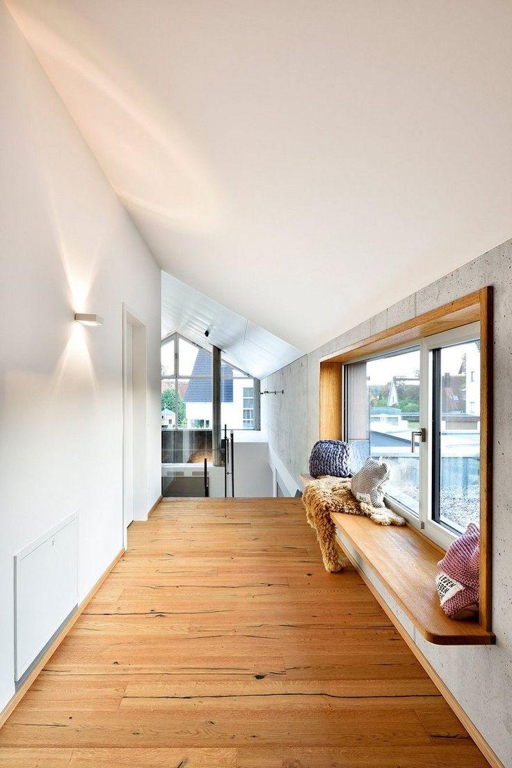 Moderne nurnberg haus mit offenem wohnbereich kamin und for Modernes haus fassade