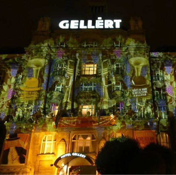 Night Projection fényfestés - Hotel Gellért - Márton napi promóció
