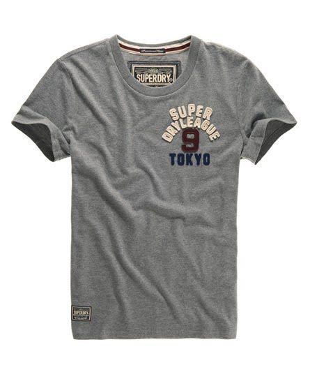 Superdry Premium Appliqué T-shirt Grey
