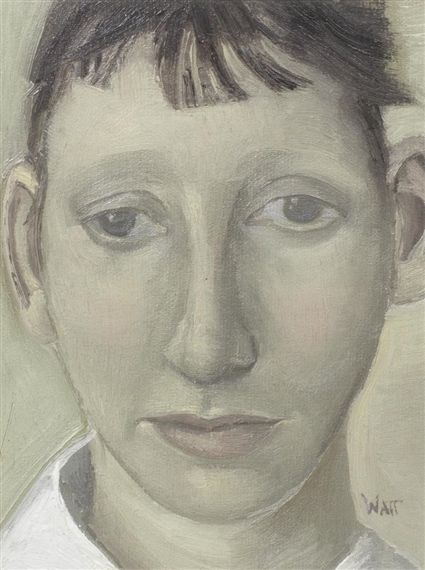 Alison Watt - Head of a Young Woman, 1989, oil on... on MutualArt.com