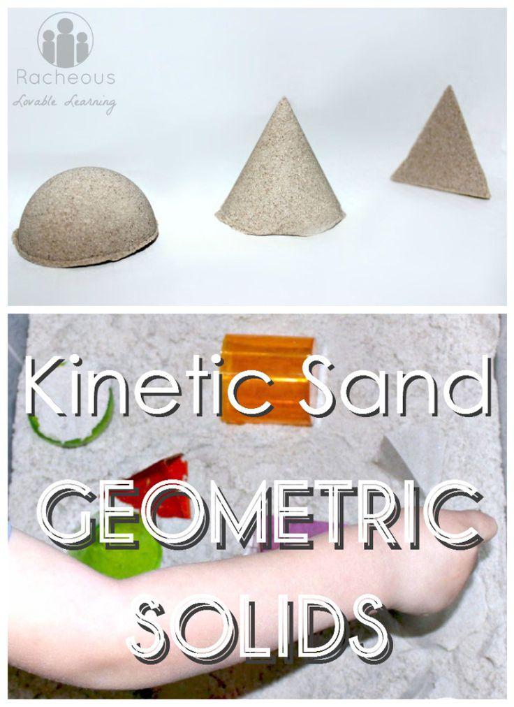 Kinetic Sand Geometric Solids!