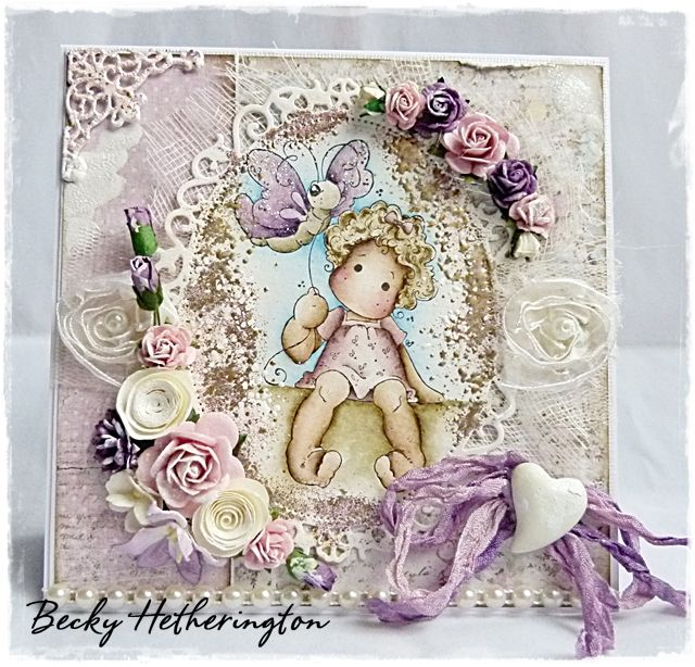 Cards By Becky: Flower Fantasy At Deep Ocean Challenges