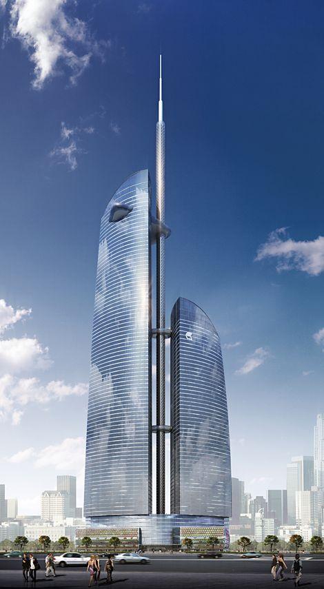 Vostok Le gratte-ciel fait partie du complexe Federation Tower dont la deuxième tour s'appelle Zapad (Federation Tower West) (242 mètres). Architectes : nps+partner GbR, Schweger + Partner. Copyright image : MinPai+