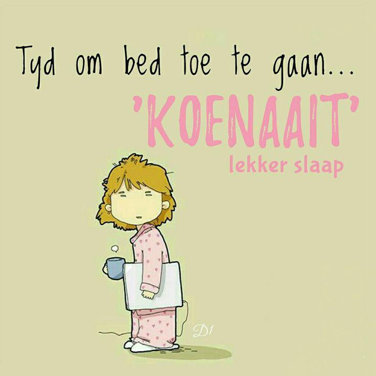Tyd om bed toe te gaan.. 'koenaait' lekker slaap